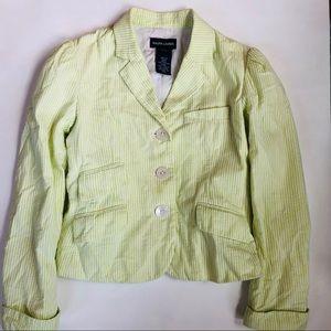 Ralph Lauren S (7) lime green seersucker jacket